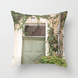 Doorway in France Throw Pillow