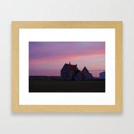 Sunset at Garrison Church, Portsmouth, England Framed Art Print