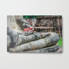 Phuang Malai for the Buddha Metal Print