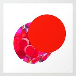 SexyPlexi dots  two love moons Art Print