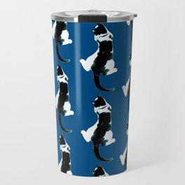 Benji the Cat 3 - Deep Blue Travel Mug