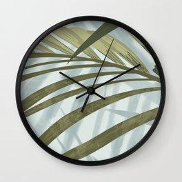 Plant Love - Leafy Shadows Wall Clock