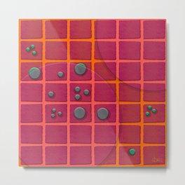 """Galactic spots & squares pattern"" Metal Print"