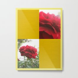 Red Rose with Light 1 Blank Q7F0 Metal Print