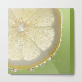 Bubbly Lemon - Lime Green Metal Print