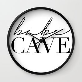babe cave Wall Clock