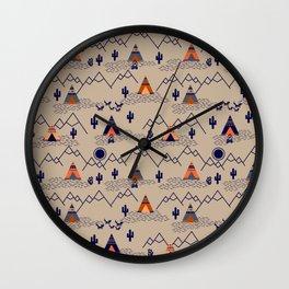 Southwestern Teepee Wall Clock