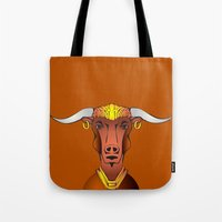 bull Tote Bags featuring Bull by ale_z
