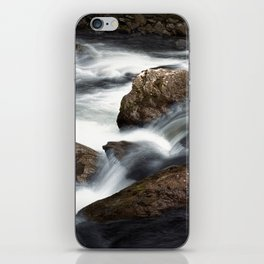 Flowing Water over Rocks in a Mountain Stream in the Smoky Mountains iPhone Skin