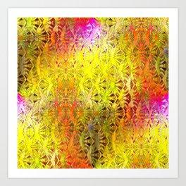 Connectedness (yellow) Art Print