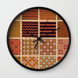 Egyptian Patterns Wall Clock