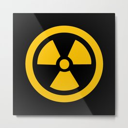Yellow Radioactive Metal Print