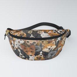 Seamless pattern cute dogs Fanny Pack