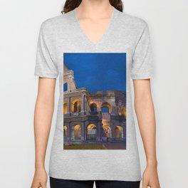 Colosseum By Night Unisex V-Neck