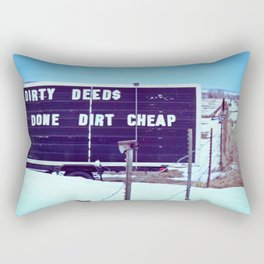Dirty Deeds Rectangular Pillow