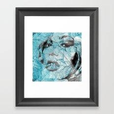 pieces of glass Framed Art Print