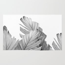 Gray Banana Leaves Dream #1 #tropical #decor #art #society6 Rug