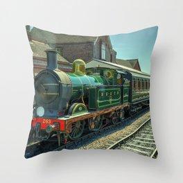 H class at Sheffield Park Throw Pillow
