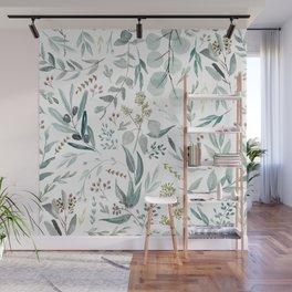 Eucalyptus pattern Wall Mural