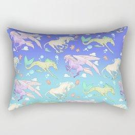 Mythical Ponies Rectangular Pillow