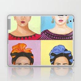 Frida Kahlo Inspired Colorful Pop Art Painting Laptop & iPad Skin