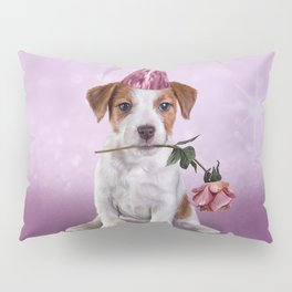 Drawing Puppy Jack Russell Terrier Pillow Sham