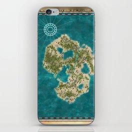 Pirate Adventure Map iPhone Skin