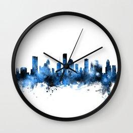 Houston Texas Skyline Wall Clock