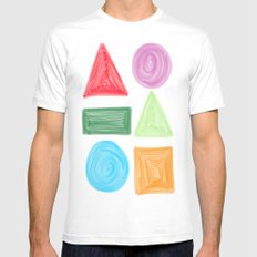 shapes Mens Fitted Tee White MEDIUM