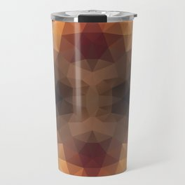 Kaleidoscopic design in soft brown colors Travel Mug