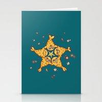 starfish Stationery Cards featuring StarFish by Lili Batista