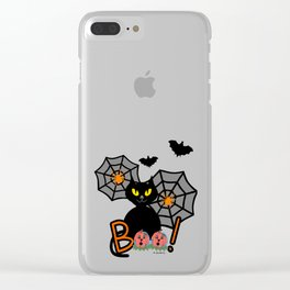 Happy Whimsical Halloween Clear iPhone Case