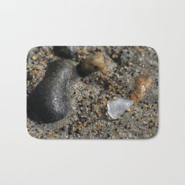 Beach Glass in the sand Bath Mat
