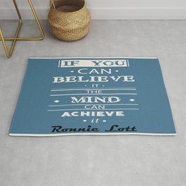 The mind can achieve it Ronnie Lott football player quote Rug