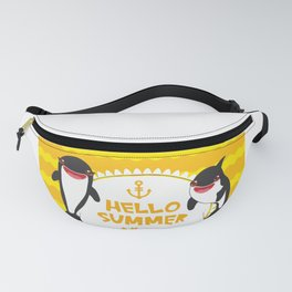Hello Summer, Kawaii orca Fanny Pack