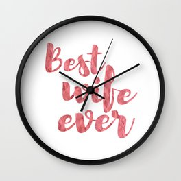Best Wife Eve Wall Clock