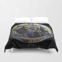 guardians of the galaxy Duvet Covers featuring Thanos - Guardians of the Galaxy by Leamartes