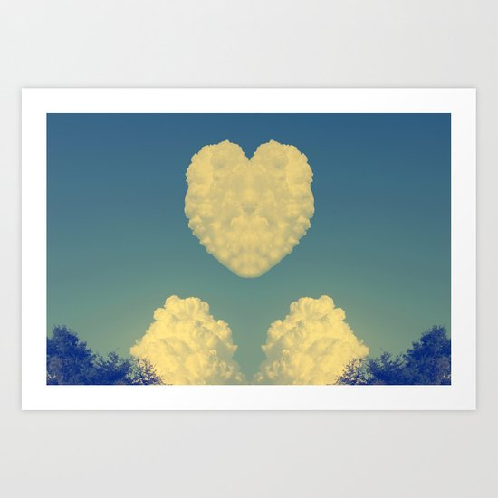 Cloudy Heart  Art Print