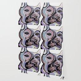 Doberman in Denim Colors Wallpaper