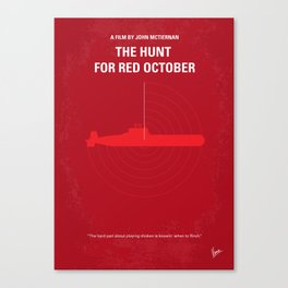No198 My The Hunt for Red October minimal movie poster Canvas Print