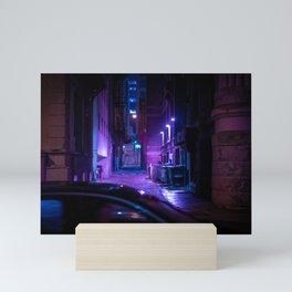 Milwaukee Alley in the Rain 1 Mini Art Print