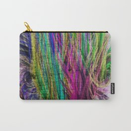 Colorful pink teal watercolor abstract grunge pattern Carry-All Pouch