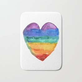 rainbow love Bath Mat