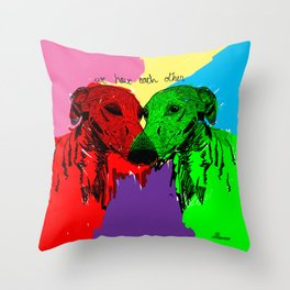Galgos Throw Pillow
