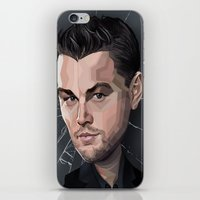 leonardo dicaprio iPhone & iPod Skins featuring DiCaprio Caricature by Stevie Ray Thompson