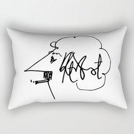 Vonnegut Self Portrait Artwork, Design for Wall Art, Prints, Posters, Tshirts, Bags, Women, Men, Kid Rectangular Pillow