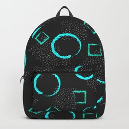 Circles & Squares Shapes Backpack
