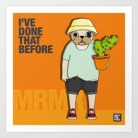 Art Print featuring MEET MRMR by MEET THE PUGS