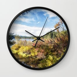 A Jumble of Color Wall Clock