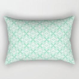 Damask (White & Mint Pattern) Rectangular Pillow